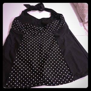 Other - Black/white PolkaDot Swimdress